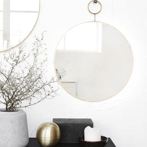 Brass Loop Mirror | Design Vintage