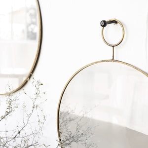 Brass Loop Mirror
