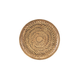 Small Brass Rattan Tray | Design Vintage