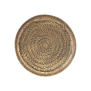 Medium Brass Rattan Tray