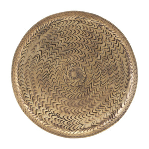 Large Brass Rattan Tray