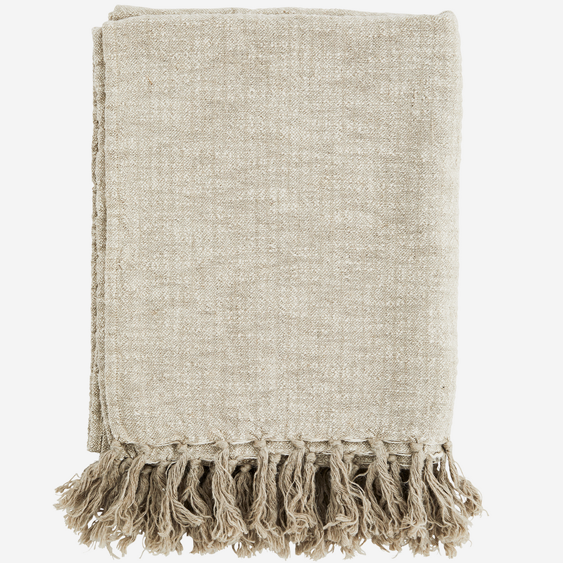 Natural Linen Throw