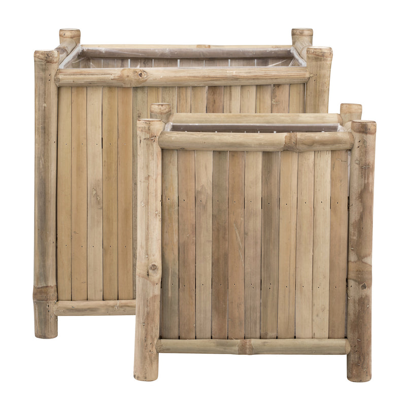 Mandisa Bamboo Planter Set