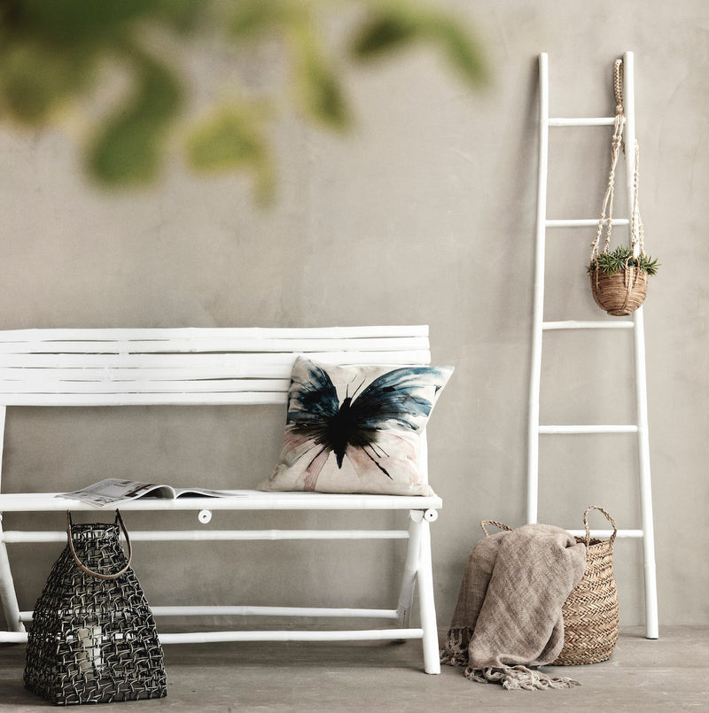 White Bamboo Ladder | Design Vintage