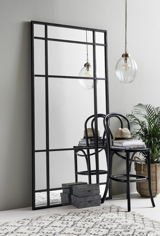 Large Black Iron Mirror | Design Vintage