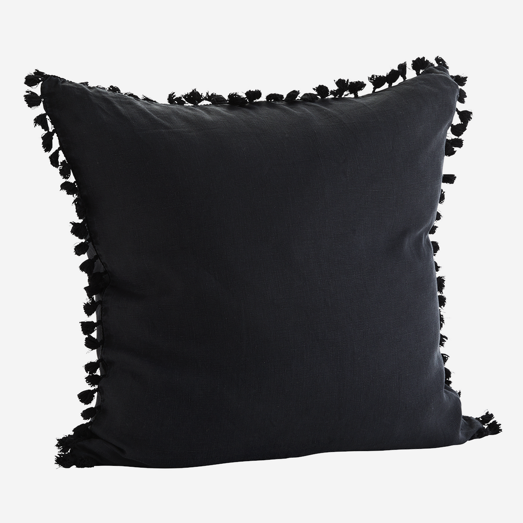 Black Tassel Cushion