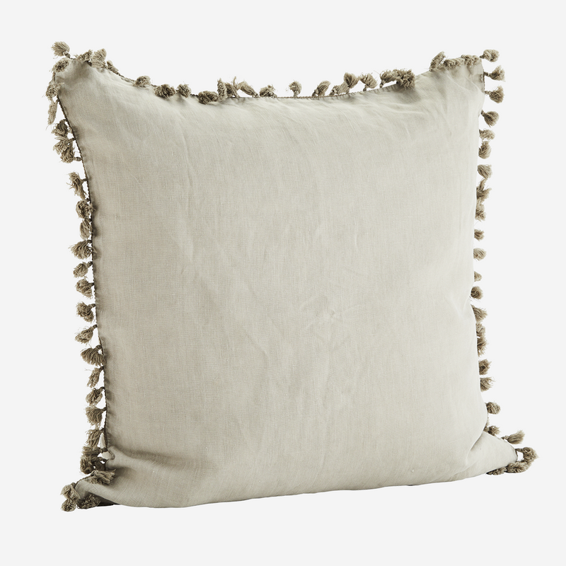 Stone Tassel Cushion