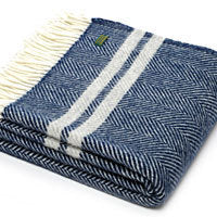 Stripe Navy Throw