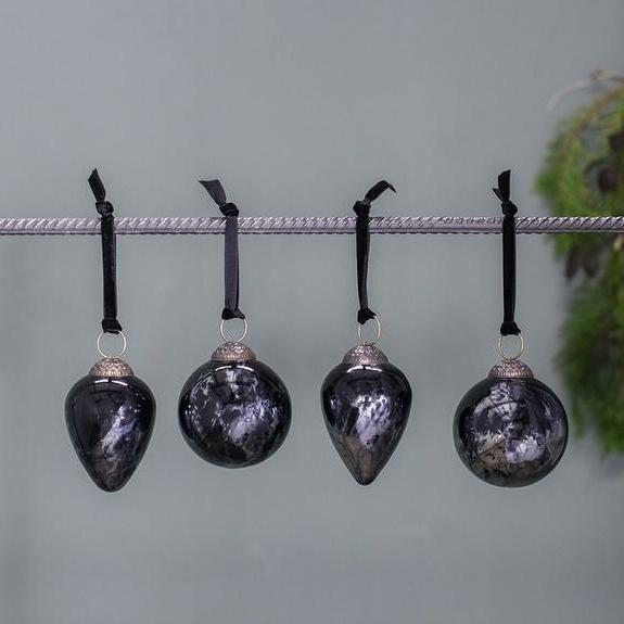 Set of Danoa Smoked Amethyst Baubles | Design Vintage