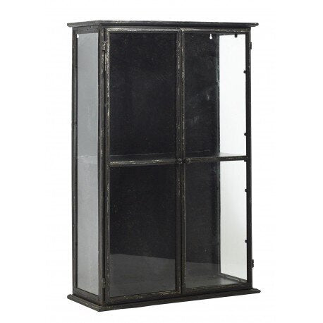 Black Iron Wall Cabinet
