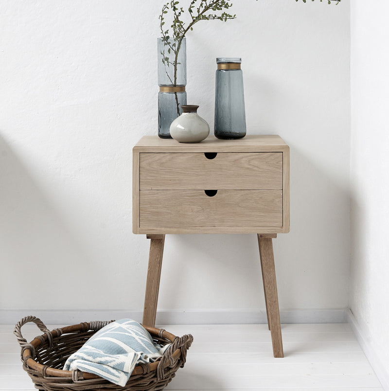 Solid Oak Bedsides | Design Vintage