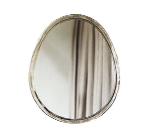 Silver Egg Mirrors