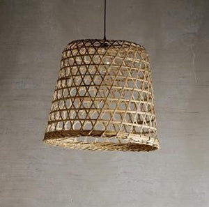 Woven Basket Lampshade
