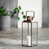 Tall Antique Brass Lantern | Design Vintage