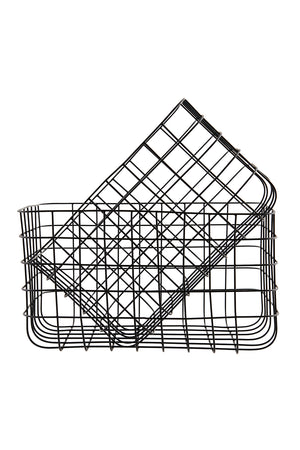 Set of Simple Wire Baskets