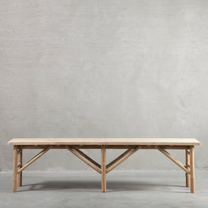 Large Bamboo Bench