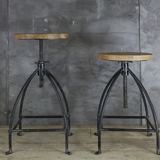 Industrial Mango Swivel Stool | Design Vintage