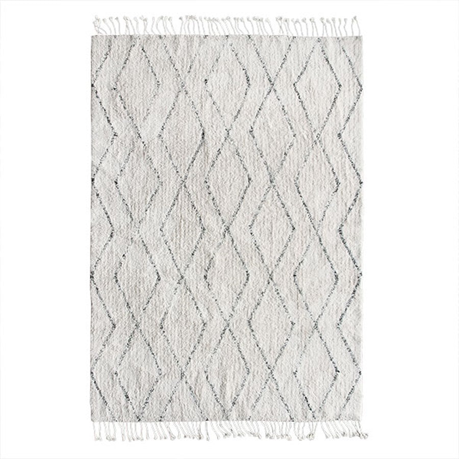 White Cotton Berber Rug