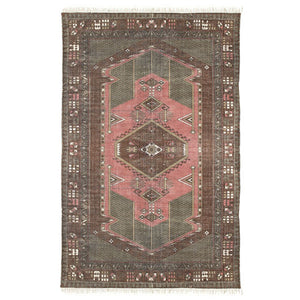 Stone Washed Printed Rug