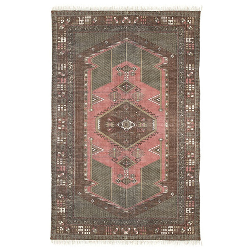 Stone Washed Printed Rug | Design Vintage