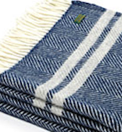 Two Stripe Navy/Grey Throw