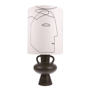 Linen Faces Lampshade | Design Vintage