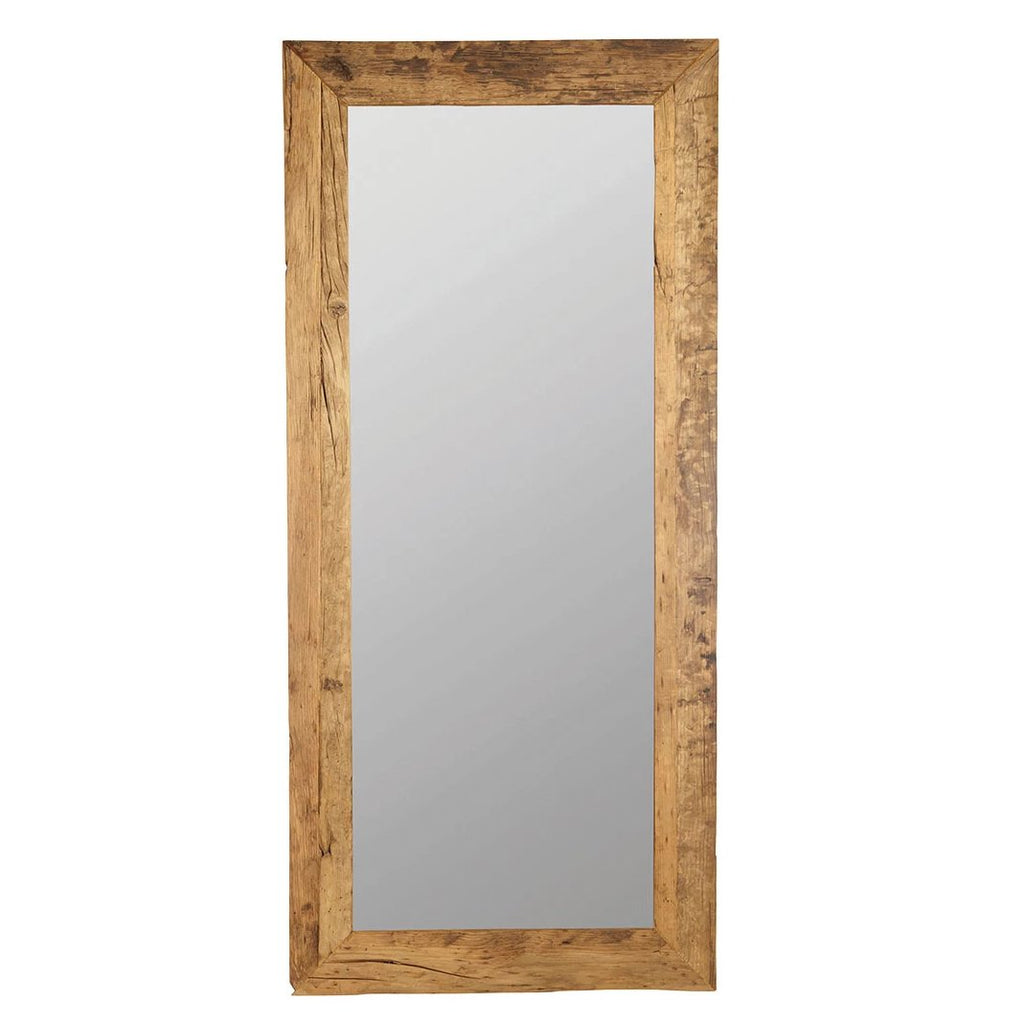 Large Recycled Wood Mirror