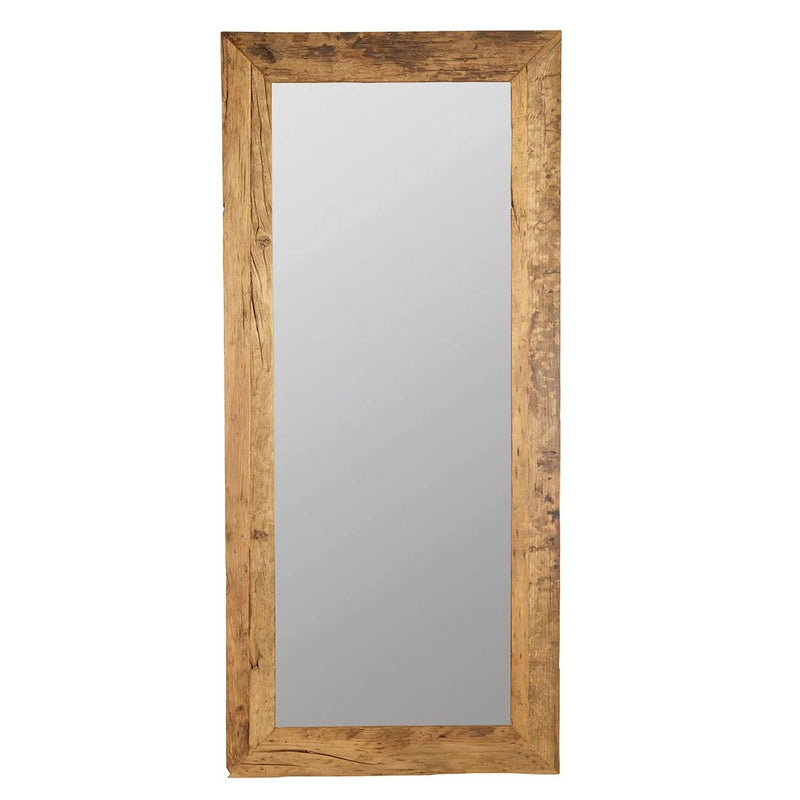 Large Recycled Wood Mirror | Design Vintage