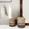 Striped Seagrass Laundry Baskets | Design Vintage