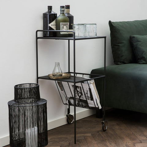 Black Magazine Trolley | Design Vintage