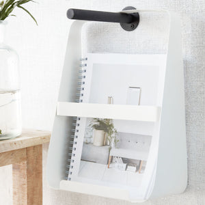 White Steel Magazine Holder