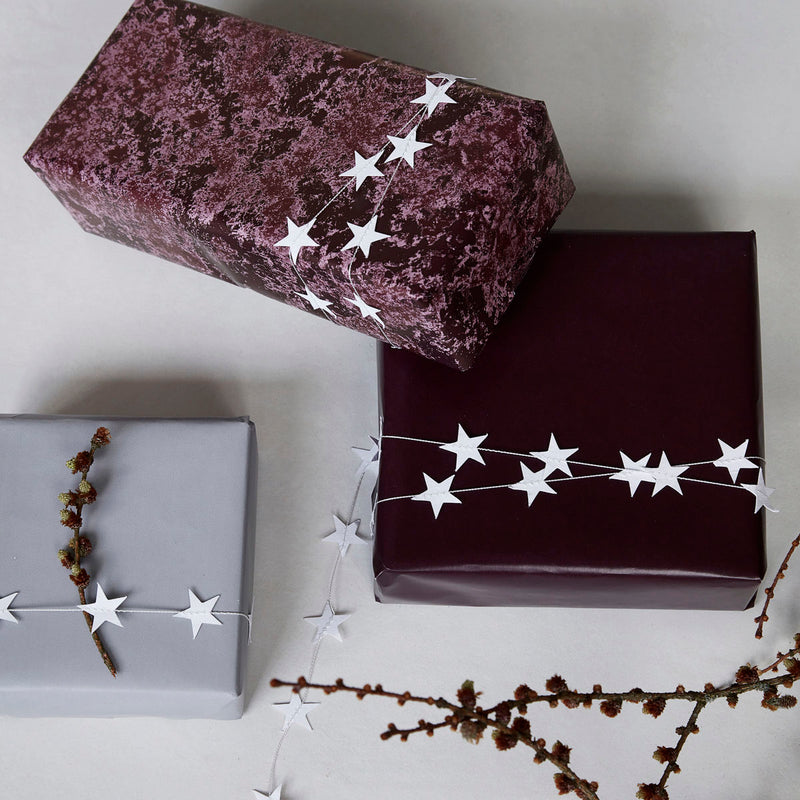 White Mini Star Garland