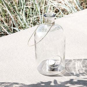 Glass Lantern with tealight holder