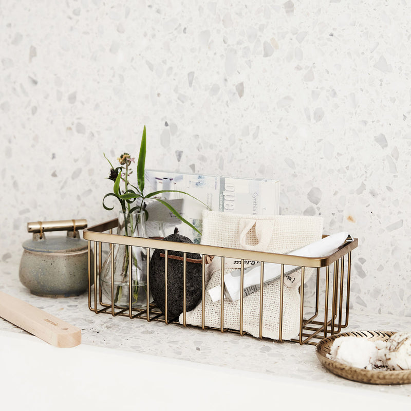 Brushed Brass Basket | Design Vintage