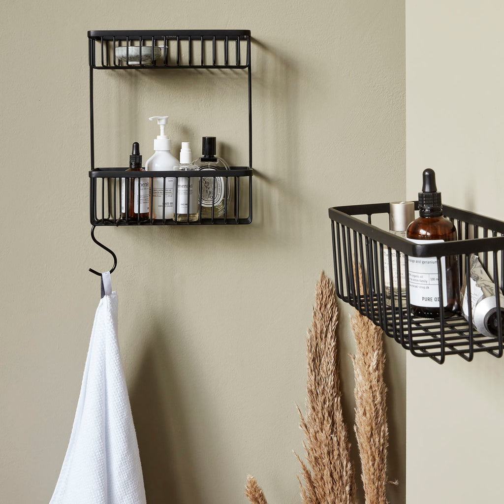 Double Shelf Bathroom Basket