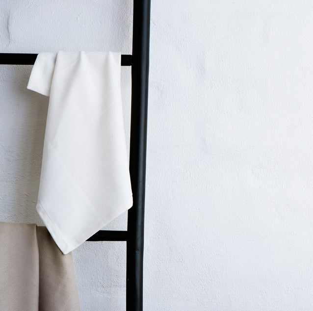 Organic Cotton White Kitchen Towel