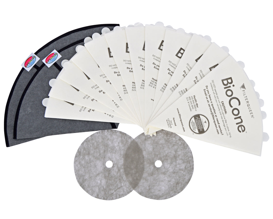filterqueen majestic surface cleaner vacuum filter queen replacement filter cones biocone medipure 12 month bundle 4404013100
