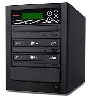 Bestduplicator BD-LG-2T 2 Target 24x SATA DVD Duplicator with Built-In LG Burner (1 to 2)
