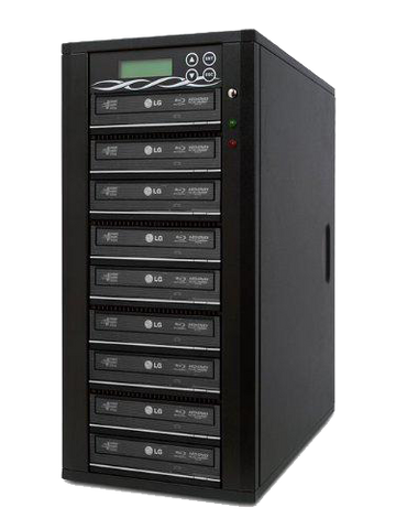 Bestduplicator M-Series (High Performance) - 9 Target 24X SATA Blu-Ray DVD CD Duplicator (Standalone Audio Video Copy Tower, Duplication Device) - 1 to 9 Blu-Ray/DVD/CD Duplicator