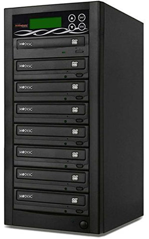 Bestduplicator BD-SMG-7T 7 Target 24x SATA DVD Duplicator with Built-In M-Disc Support Burner (1 to 7)