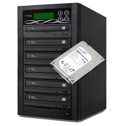 BestDuplicator DVD Duplicator 5 Target Built-in 24X Burner + 1TB Hard Drive Storage (1 to 5) by