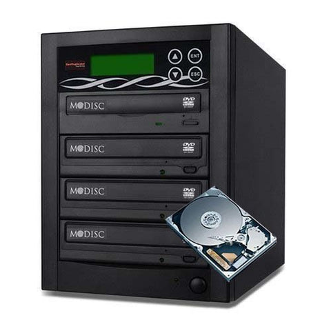 Bestduplicator Pro HD Series - 8 Target External Disc DVD/CD Duplicator Built-in 500GB Hard Disk Drive & 24X Burners