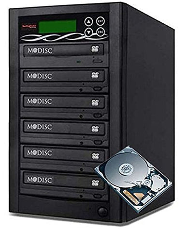 Bestduplicator Pro Hd Series - 5 Target External Disc Dvd/cd Duplicator Built-in 500gb Hard Disk Drive & 24x Burners