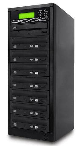 BestDuplicator Target DVD CD Duplicator with DVDRW Burners Athena Duplication Controller, Standalone Copier Tower Replication Recorder Black (7 Target, Black)