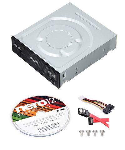 Asus 24x DRW-24F1ST-KIT DVD Sata Super Multi Burner + Nero 12 Essentials Burning Software Trail Version + Sata Installation Kit