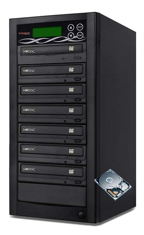 Bestduplicator Pro HD Series - 6 Target External Disc DVD/CD Duplicator Built-in 500GB Hard Disk Drive & 24X Burners