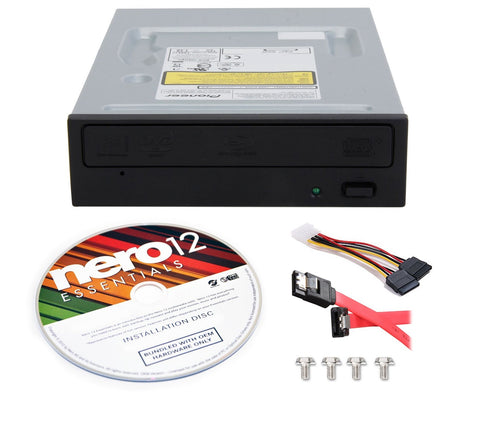 Pioneer Electronics USA Blu Ray Combo Drive, BDR-209DBK + Nero 12 Essentials Burning Software + Sata Cable Kit