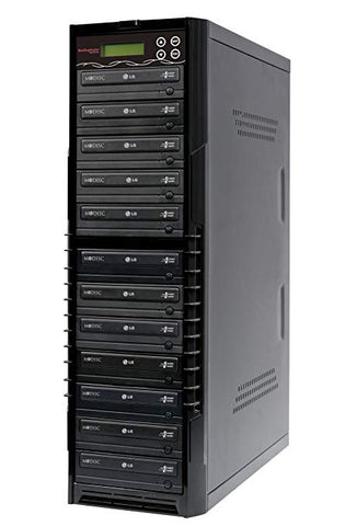 Bestduplicator BD-LG-11T 11 Target 24x SATA DVD Duplicator with Built-In LG Burner (1 to 11)