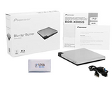 Pioneer BDR-XD05S Blu-Ray Player & Burner - 6X Slim Portable External BDXL, BD, DVD & CD Drive for Windows & Mac with 3.0 USB - Write & Read on Laptop or Desktop, MacBook or PC (Silver)