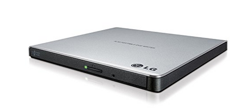 LG Electronics 8X USB 2.0 Super Multi Ultra Slim Portable DVD+/-RW External Drive with M-DISC Support, Retail (Silver)